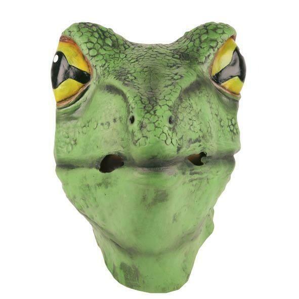 Masker Kikker rubber latex masker dieren Kermit of Plons