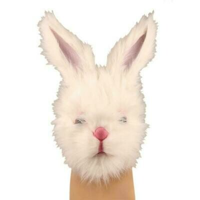Masker konijn wit in rubber dieren