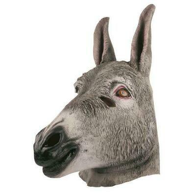 Masker Ezel rubber latex dieren Boerderij Donkey