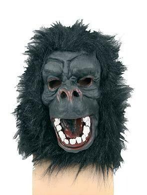 Masker aap Gorilla witte tanden rubber latex dieren jungle