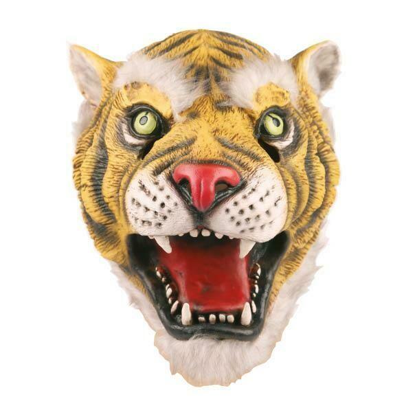 Masker Tijger rubber latex dieren jungle