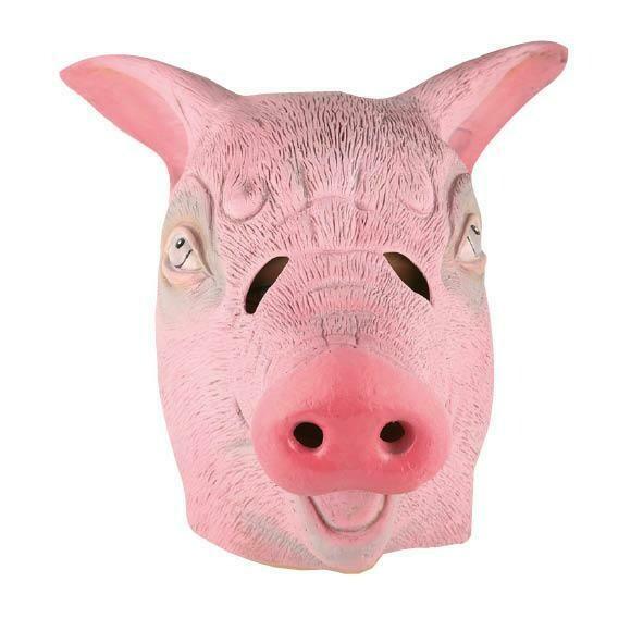 Masker Varken luxe rubber latex dieren varkensmasker zwijn boerderij