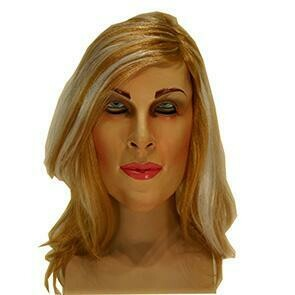 Masker dame vrouw rubber latex