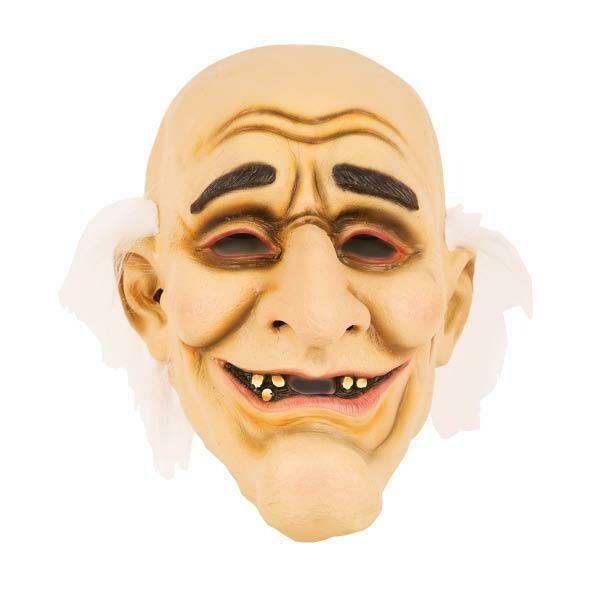 Masker oude man rubber latex met 5 tanden