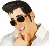 Elvis pruik en voorhoofd in latex rubber