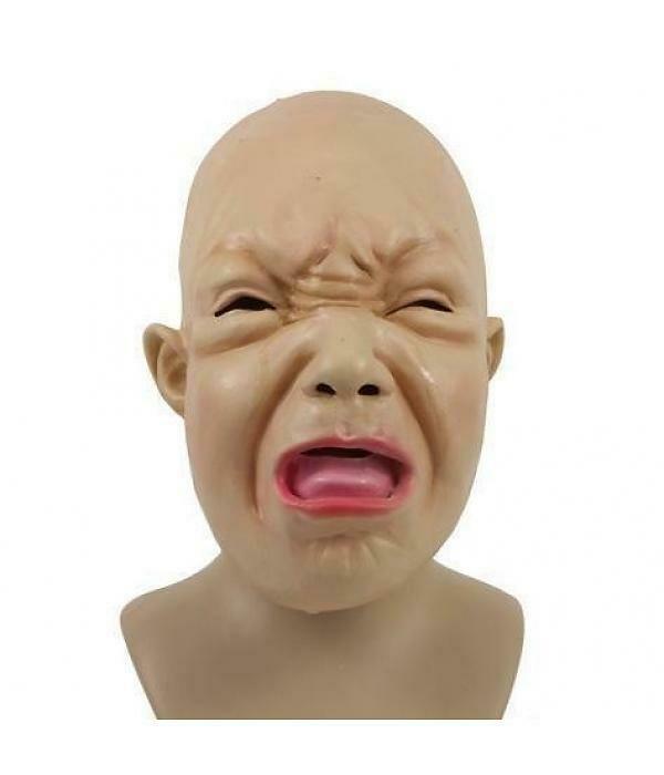 Masker huilende baby rubber latex huilbaby