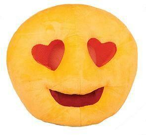 Emoji hartjes masker én kussen