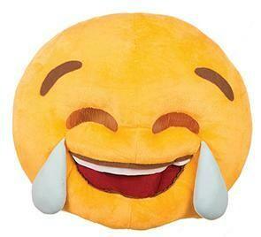 Emoji tranen masker én kussen