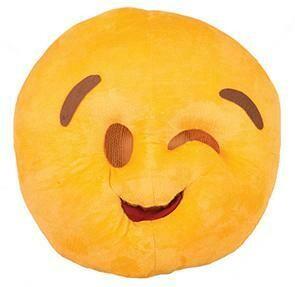 Emoji knipoog masker én kussen