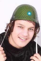 Helm leger Legerhelm camouflage hoed effen groen soldaat