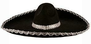 Sombrero zwart Mexicaanse hoed Day of Death