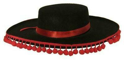 Hoed Spaans man Spaanse hoed met bolletjes
