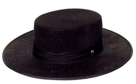 Spaanse hoed zwart Hoed Spanje of V for Vendetta of Zorro