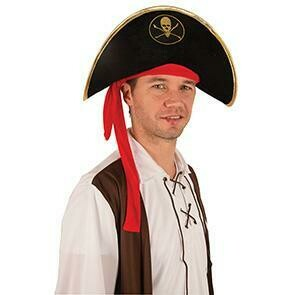 Hoed piraat Piet piratenhoed zacht model