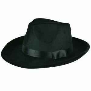 Maffia hoed jaren '20 Al Capone Charleston Twenties gangster zwart voor groot hoofd