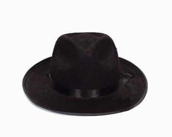 Maffia hoed jaren '20 Al Capone Charleston Twenties gangster zwart in vilt