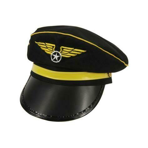Pet Piloot pilotenpet Zwart met geel