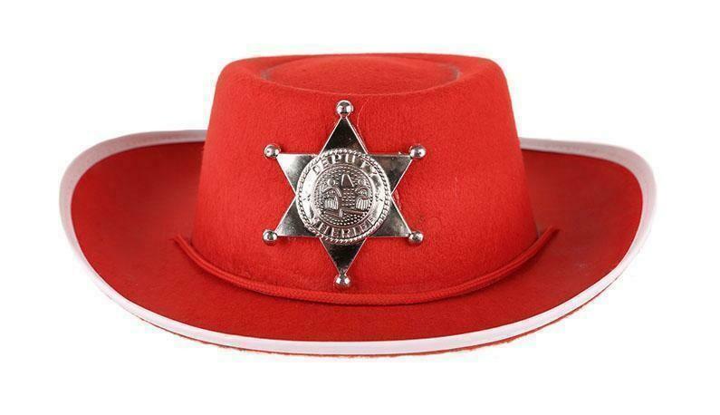 Cowboyhoed rood kind tot 8 jaar