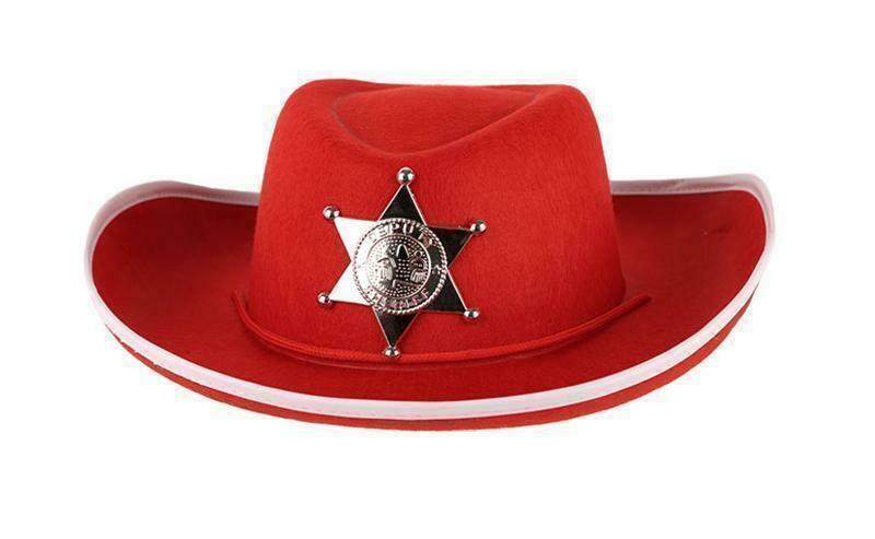 Cowboyhoed rood kind vanaf 9 jaar
