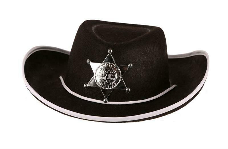 Cowboyhoed zwart kind vanaf 9 jaar