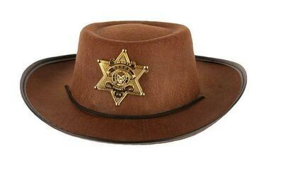 Cowboyhoed bruin kind vanaf 9 jaar