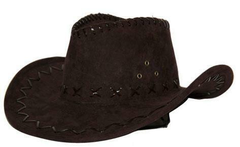 Cowboyhoed bruin suede look volwassenen