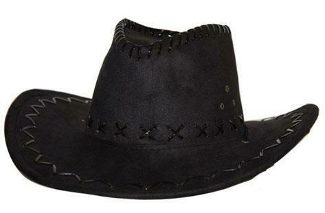 Cowboyhoed zwart suede look volwassenen