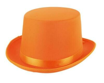 Buishoed fluo oranje neon hoge hoed
