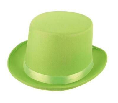 Buishoed fluo groen neon hoge hoed