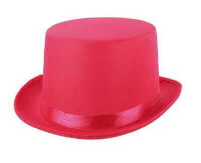 Buishoed fluo roze neon hoge hoed fushia