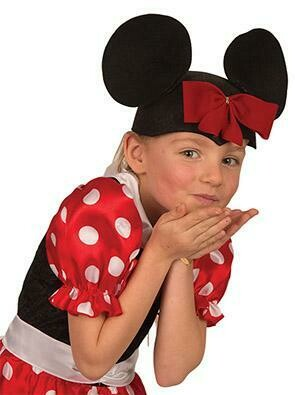 Minnie Mouse oortjes op hoedje oren Minnie Mouse
