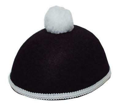 Pierot hoed zwart met wit mime Clown Pierrot