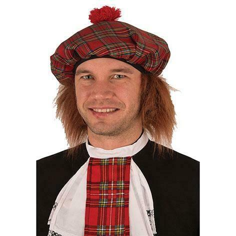 Schotse muts met ros haar hoed schotland