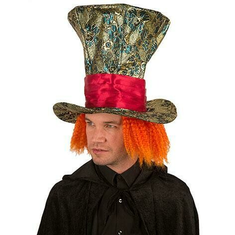 Mad Hatter hoed De gekke hoedenmaker Disney hoge hoed met haar