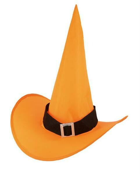 Heksenhoed oranje volwassenen nylon Halloween