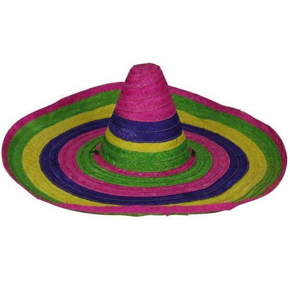 Hoed Mexico Mexicaanse hoed Sombrero Mexicaan in diverse kleuren Groot model mannen