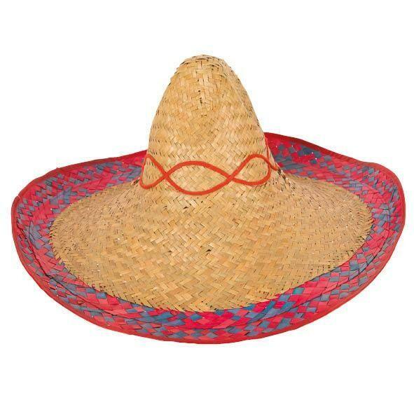 Hoed Mexico Mexicaanse hoed Sombrero Mexicaan naturel met boord
