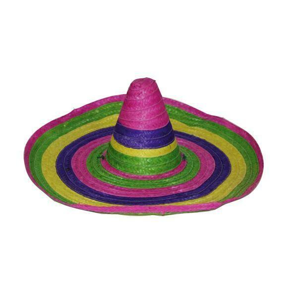 Hoed Mexico Mexicaanse hoed Sombrero Mexicaan in diverse kleuren voor dames en kinderen
