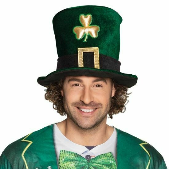 Hoed St. Patricks Day buishoed groen met klaver