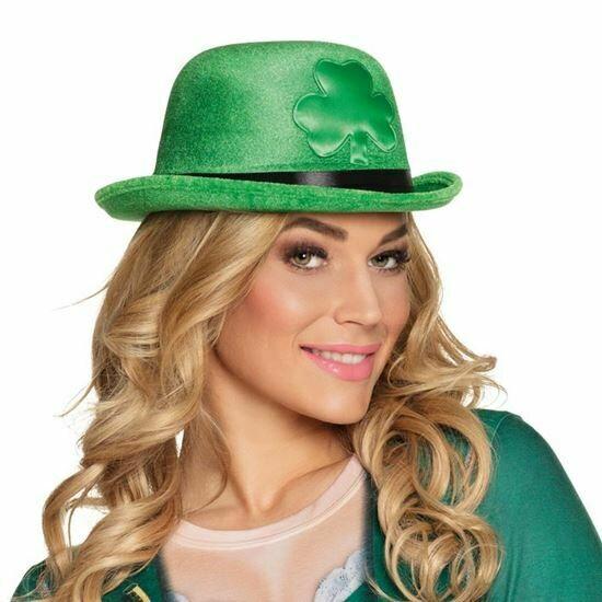 Hoed St. Patricks Day Bolhoed groen met klaver
