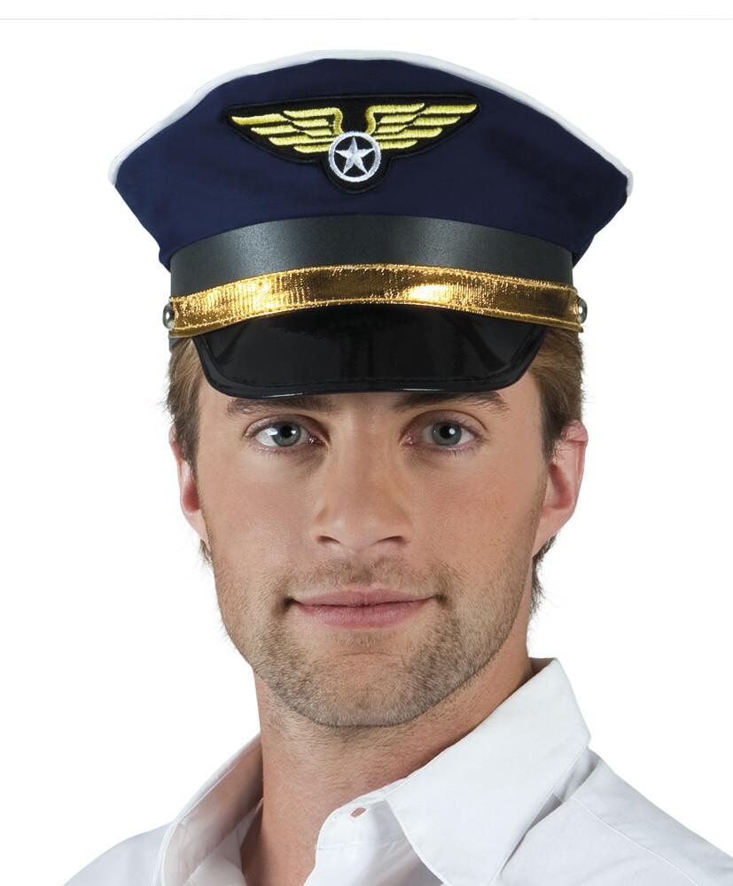 Pet piloot blauw pilotenpet