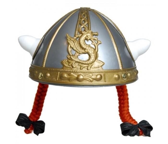 Obelix helm kinderen met vlechtjes stripfiguur