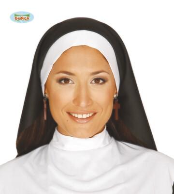Kap non mét witte slab ! Nonnenkap en bavet zuster