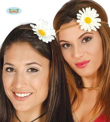 Hippie haarband met bloem
