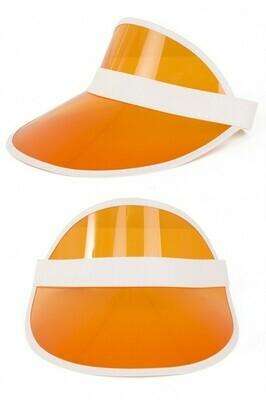 Zonneklep oranje pet Nineties zonnepet