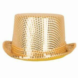 Buishoed goud glitter gouden buis hoed