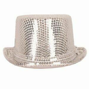 Buishoed zilver glitter zilveren buis hoed