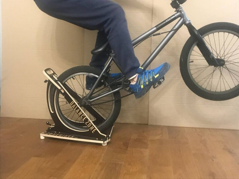 Manual or balance trainer on the rear wheel ZoneBalance for 16 - 20 BMX wheels and children's bicycles