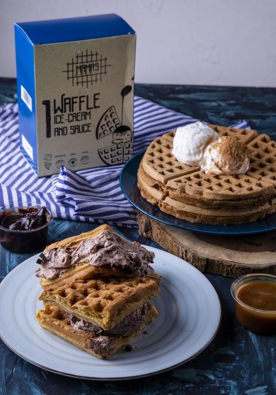 Vanilla Waffle with Icecream