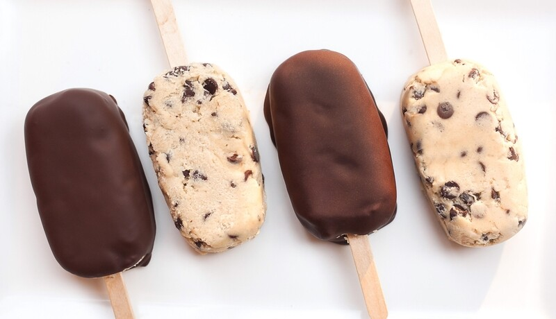 2 Chocolate chip Cooksicles